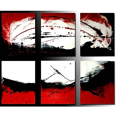 Acura Rugs Sunlight 6 Piece Framed Original Painting on Wrapped Canvas Set