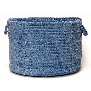 Colonial Mills Spring Meadow Braided Utility Basket; Petal Blue