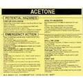 Brady Hazardous Material Acetone