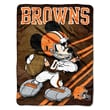 Northwest Co. NFL Mickey Mouse Raschel Throw; Cleveland Browns