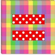 iCanvas Flags Equality Sign, Equal Rights Symbol Graphic Art on Canvas; 18'' H x 18'' W x 1.5'' D