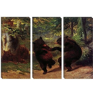 iCanvas Dancing Bears Painting Print on Canvas; 26'' H x 40'' W x 0.75'' D