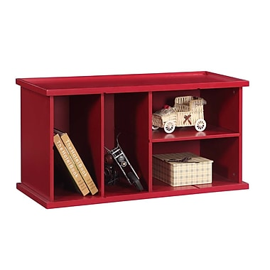 InRoom Designs Stackable 18'' Bookcase; Red