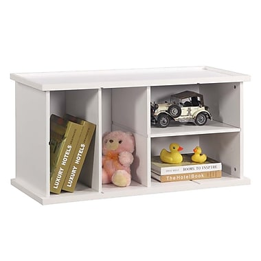 InRoom Designs Stackable 18'' Bookcase; White