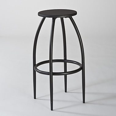 Hillsdale Bowen Adjustable Bar Stool; Black