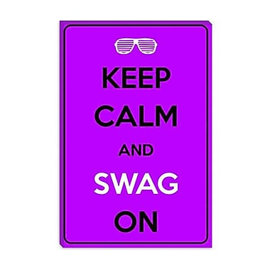 iCanvas Keep Calm and Swag on Graphic Art on Canvas; 12'' H x 8'' W x 0.75'' D