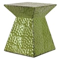 Woodland Imports Metal Stool; Green