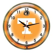 Wave 7 NCAA 18'' Team Neon Wall Clock; Tennessee