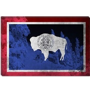 iCanvas Wyoming Flag, Jackson Hole Graphic Art on Canvas; 12'' H x 18'' W x 1.5'' D