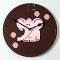 Forest Creations 18'' Elephant Wall Clock; White