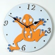 Forest Creations 18'' Frog Wall Clock; Dark Chocolate