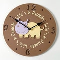 Forest Creations 18'' Hippo Wall Clock; Sky Blue