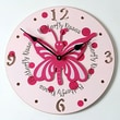 Forest Creations 18'' Butterfly Wall Clock; Dark Chocolate