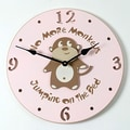 Forest Creations 18'' Monkey Wall Clock; Pastel Pink