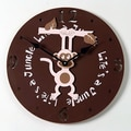 Forest Creations 18'' Hanging Monkey Wall Clock; Dark Chocolate