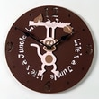 Forest Creations 18'' Hanging Monkey Wall Clock; Dark Chocolate