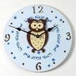 Forest Creations 18'' Owl Wall Clock; Dark Chocolate