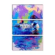 iCanvas Ducks by Richard Wallich Painting Print on Canvas; 18'' H x 12'' W x 0.75'' D