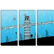 iCanvas Kids Children Leaning Tower of Pisa Graphic Canvas Wall Art; 8'' H x 12'' W x 0.75'' D
