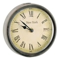 Barreveld 6.3'' Wood / Glass New York Round Clock; Small