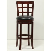 Mochi Furniture Longmont 29'' Swivel Bar Stool with Cushion; Brown Cherry