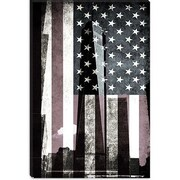 iCanvas Flags New York Freedom Tower Graphic Art on Canvas; 18'' H x 12'' W x 0.75'' D