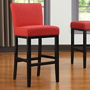 Handy Living Oslo 29'' Bar Stool ; Sunrise Red Linen