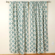 The Pillow Collection Key West Rod Pocket Curtain Panel (Set of 2); 72'' H x 50'' W