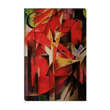 iCanvas 'The Fox' by Franz Marc Painting Print on Canvas; 12'' H x 8'' W x 0.75'' D