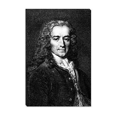 iCanvas Political Voltaire Portrait Painting Print on Canvas; 12'' H x 8'' W x 0.75'' D