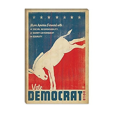 iCanvas Anderson Design Group 'Vote Democrat' Graphic Art on Canvas; 40'' H x 26'' W x 1.5'' D