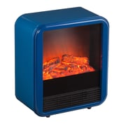 Holly & Martin Fasser Electric Fireplace; Navy