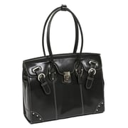 McKlein USA W Series McKlein USA Leclaire Ladies' Laptop Tote Bag; Black