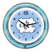 Wave 7 NCAA 14'' Team Neon Wall Clock; North Carolina