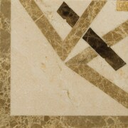 Emser Tile Natural Stone 4'' x 4'' Polished Marble Pantheon Listello Corner