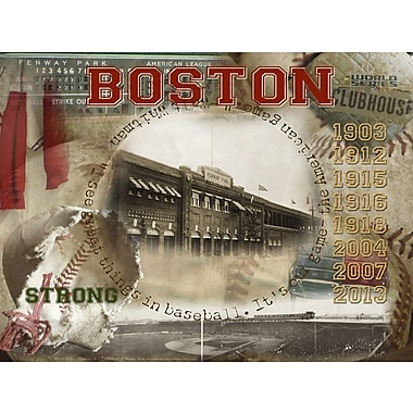 Graffitee Studios Red Sox Boston Clubhouse Graphic Art on Wrapped Canvas