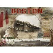 PENL Red Sox Boston Clubhouse Graphic Art on Wrapped Canvas