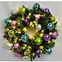 Queens of Christmas Pre-Lit Sequoia Wreath Decorated with