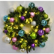 Queens of Christmas Pre-Lit Sequoia Wreath Decorated with Victorian Ornament; 36''