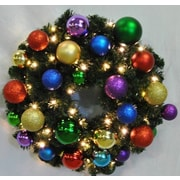 Queens of Christmas Pre-Lit Sequoia Wreath Decorated w/ Royal Ornament; 48''