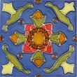 Solistone Mission 6'' x 6'' Hand-Painted Ceramic Decorative Tile in Cactus