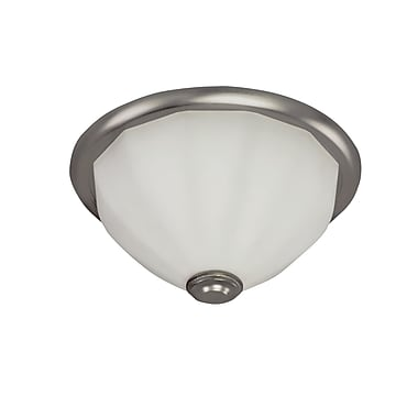 Radionic Hi Tech Facet 2 Light Flush Mount; Satin Nickel