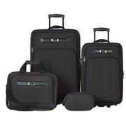 Skyway Desoto 4 Piece Luggage Set; Black
