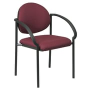 Office Star Stack Chair with Arms and Black Frame Quote   (special order); Icon - Burgundy