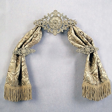 Menagerie Hardware for Casa Artistica Pomegranate 17'' Curtain Valance; Bronze