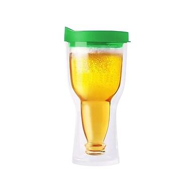 AdNArt Brew 2 Go Beer Insulated Tumbler; Green