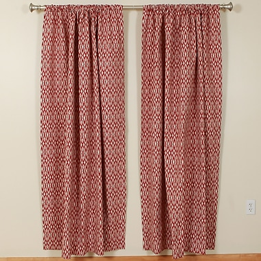 The Pillow Collection Hot Pepper 1 Rod Pocket Curtain Panels (Set of 2); 50'' W x 72'' L