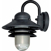 Volume Lighting 1 Light Outdoor Wall Mounted Light Fixture; Black