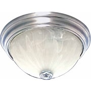 Volume Lighting Minster 1-Light Ceiling Fixture Flush Mount; Brushed Nickel