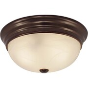 Volume Lighting 1 Light Ceiling Fixture Flush Mount; Antique Bronze